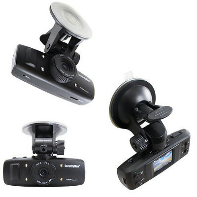 SecurityMan HD Car Camera Recorder with Built-In Impact Sensor