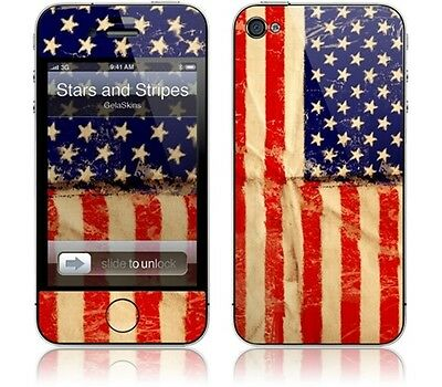 Gelaskins Protective Vinyl Skin for iPhone 4 & 4S - Stars and Stripes