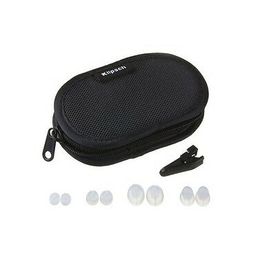 Klipsch Canvas Headphone Case Kit with Ear Tips and Clothing Clip