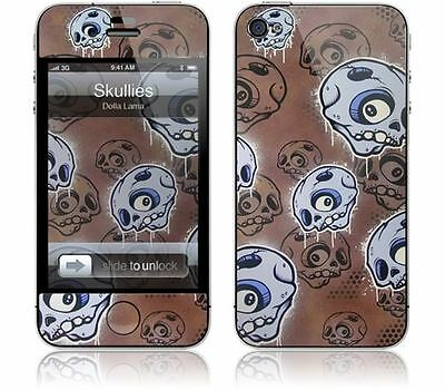 Gelaskins Protective Vinyl Skin for iPhone 4 & 4S - Skullies