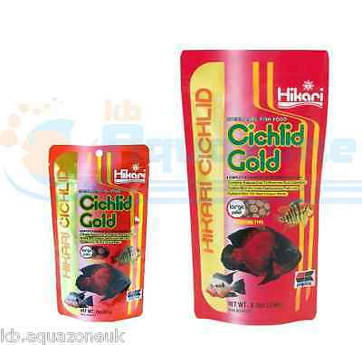 HIKARI Cichlid GOLD 57g or 250g * Fish Food LARGE Pellets Floating