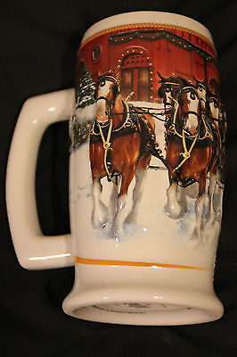 2006 Budweiser Holiday Stein Sunset At The Stables 1 Stien Only