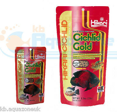 HIKARI Cichlid GOLD 57g or 250g * Fish Food MEDIUM Pellets Floating