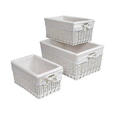 Badger Decorative Basket with White Liners Set of 3