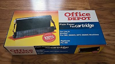 Office Depot Brother PC-401 Plain Paper Fax Cartridge. Fax 560,580 MC,MFC 660MC