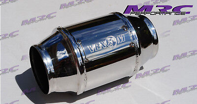 "VENOM high flow STAINLESS 2.5"" 63.5mm 400 cell Cat Catalytic Converter."