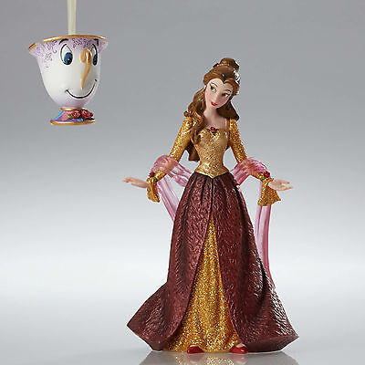 Disney Showcase Couture Beauty & Beast Belle & Chip Ornament 2016 4053349