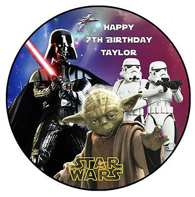 STAR WARS Custom Edible WAFER PAPER Party Birthday Cake Decoration Topper Image