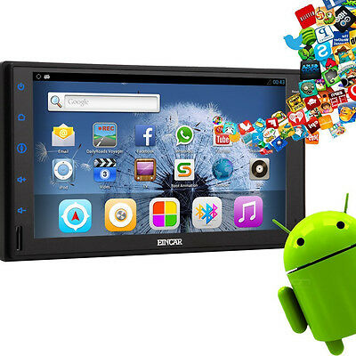 """Android 4.4 Quad Core 2Din 7"""" Car Stereo player GPS NAV Radio BT/3G/Wifi Ready"""