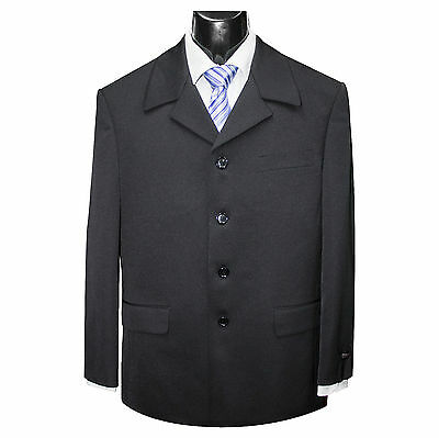 New Mens Black 4-Button Suit Jacket And Trousers