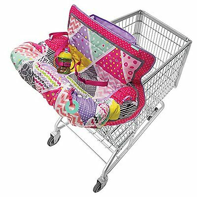 Infantino Compact Cart Cover Pink Adjustable Safety Harness Keeps Baby Safe New