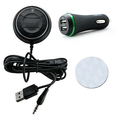 Hands-free NFC Bluetooth4.0 Car Kit Stereo Audio Music Receiver 3.5mm Jack BLACK