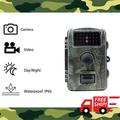Trail Camera 12MP 1080P HD Hunting Game Security LED Night Vision 940nm Wildlife