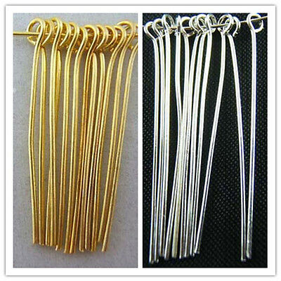 Wholesale 300pcs Silver Golden Eye Pins Jewelry Finding 20/25/30/35/40/50mm DIY