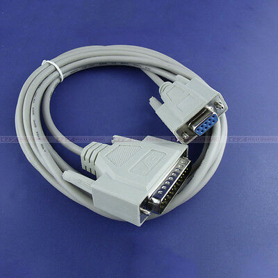 Data Cable 9pin to 25pin for Pcut CT630 CTN900 CT1200 Kingcut Cutting Plotter *1
