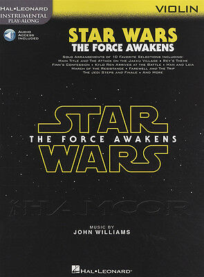 Star Wars The Force Awakens Violin Sheet Music Book with Audio Play Along