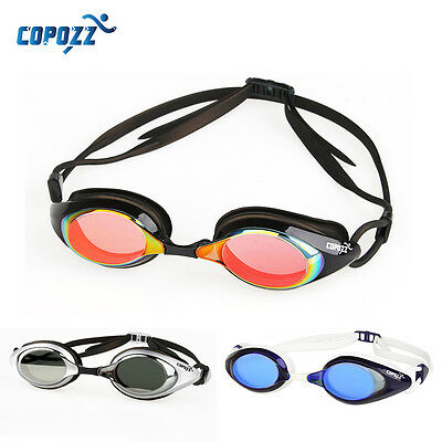 COPOZZ Swimming Goggles Mirror/Clear lens Glasses Adjustable Competition Racing