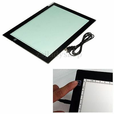 A4 Ultra Thin LED Tracing Copy Board Tracer Pad LightBox Tattoo Sketch Art Photo