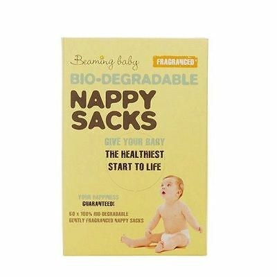 Beaming Baby Nappy Sacks Fragranced 60's Pieces (Pack of 2)