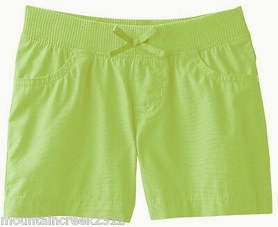 JUMPING BEANS Girl's Shorts Size 24 months Woven Cotton Pull On Green New