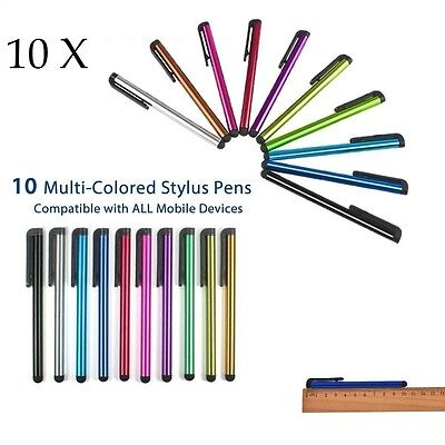 10x Universal Capacitive Stylus Touch Screen Mobile Tablet Smart Phone Pen Pens