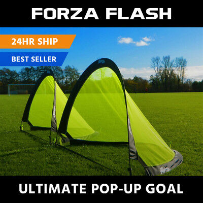 FORZA Flash Pop-Up KIDS FOOTBALL GOAL [Pair] - 2.5ft, 4ft & 6ft - Target Goal