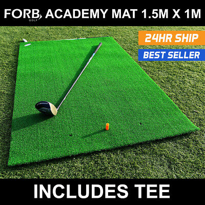 FORB Academy Roll-Up Golf Practice Mat (1.5m x 1m) Beginner Fairway Stance & Hit