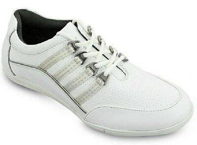 Emsmorn Flair Ladies Bowls Sports Shoes Leather Lightweight Casual Lace-Up