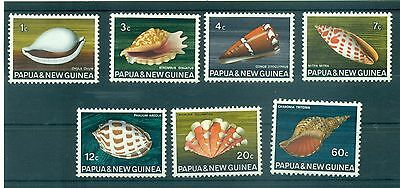 COQUILLAGE - SEA SHELL PAPUA & NEW GUINEA 1968 set of 7