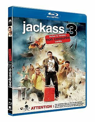 Po//40610//jackass 3 Blu Ray + Dvd Inclus Version Non Censure Neuf