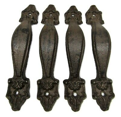 "Lot 4 Antique-style 6 3/4"" Cast Iron Rustic Cabinet Cupboard Pull Door Handle"