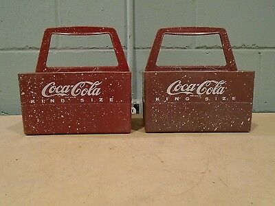Coca Cola King Size Bottle Caddy Carrier Crate Box Plastic 1970s Six Pack COKE