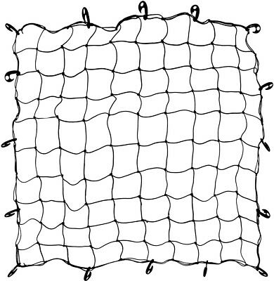 "Black Trunk Cover Bungee Netting 60"" x 60"" with Hooks"