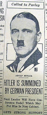 6 1933 newspapers EARLY HITLER RISE TO POWER in Germany Elections NAZI PARTY