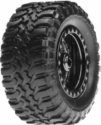 Losi Micro Desert Truck Standard Tyres Mounted On Chrome Wheels (4) - LOSB1572