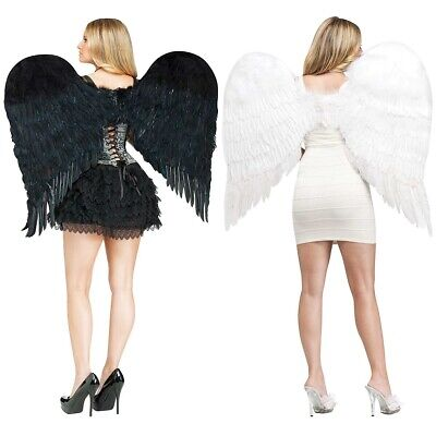 Feather Angel Wings Adult Costume Accessory Halloween Fancy Dress