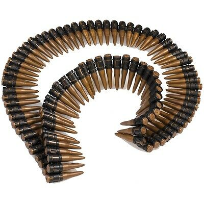 "Costume Bullet Belt 60"" Army Rambo Halloween Fancy Dress"