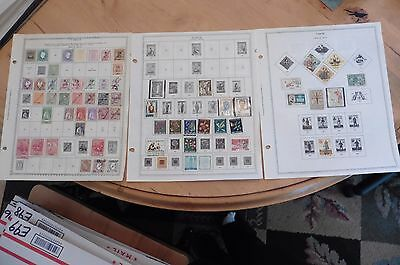 F02 Timor stamps 1887-1932 1933-1950 1938-1970 Minkus 3 Pages Hinged stamps