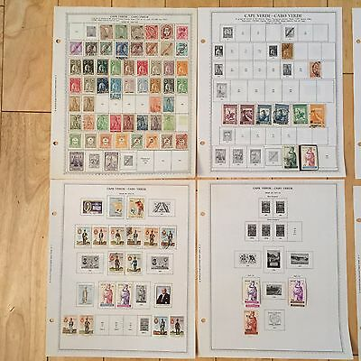 B71 Cape Cabo Verde Stamps Minkus Pages 1898-1970 Hinged thru 1979 empty sheets