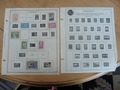 A11 Afghanistan stamps Minkus Double Sided Sheets 1944-50 1949-51 1939-51 hinged