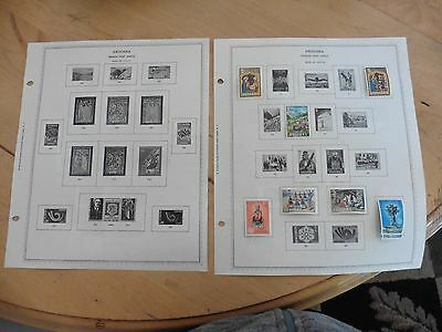 A45 Andorra Spanish Post Office stamps Minkus Page 1972-1973 1974-1977 hinged