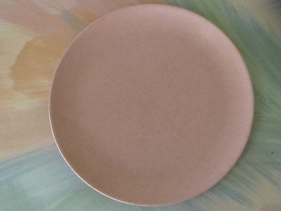 """Vintage Monterey Of California Pottery Pink Speckled 10"""" Plate"""