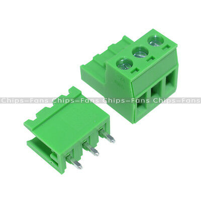 10Pcs KF2EDGK KF-3P 5.08mm Pitch Right Angle Plug-in Terminal Connector CF
