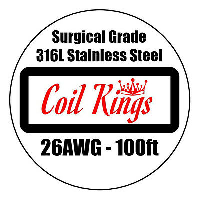 26AWG 100ft 316L STAINLESS STEEL WIRE HIGH QUALITY SURGICAL SS WIRE