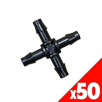CROSS 4.5mm Barb Micro Irrigation Garden Water Poly Fittings 40495 BAG of 50