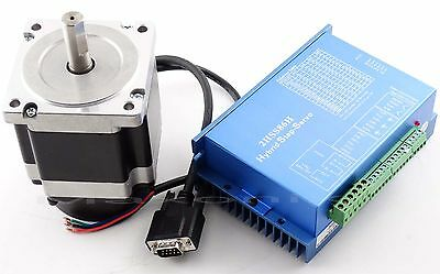 CNC Hybrid Closed loop Stepper Servo 2HSS86 Driver + 4.5N.M Servo Motor +Encoder