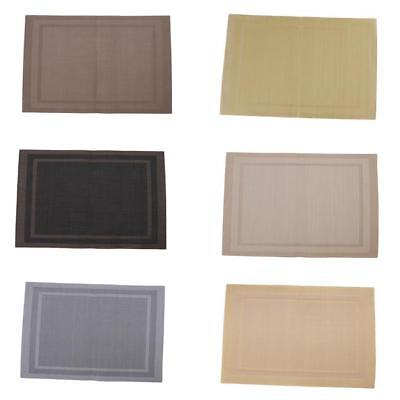 PVC Dining Room Weave Woven Placemats Table Heat Insulation Place Mats - CB