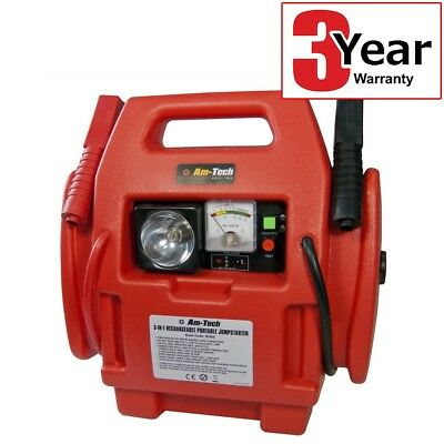 12V POWER PACK CAR ENGINE STARTER JUMP START BATTERY BOOSTER c/w AIR COMPRESSOR