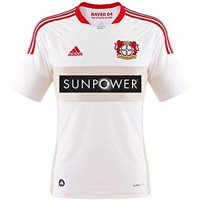 adidas Bayer Leverkusen Away Jersey (2012/13) Sizes XL-XXL White RRP £60 BNWT