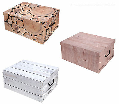aufbewahrungs box mit deckel purenature kiste karton. Black Bedroom Furniture Sets. Home Design Ideas